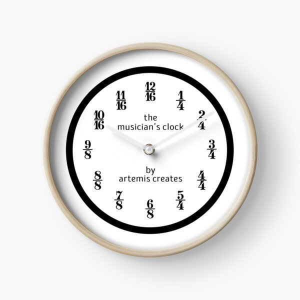 The Musician's Clock (Clock Only) Clock