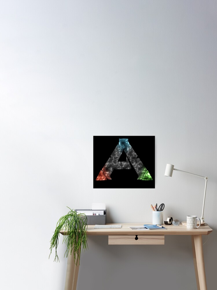 Ark Survival Evolved Logo Galaxy Design Poster By Kamurata Redbubble
