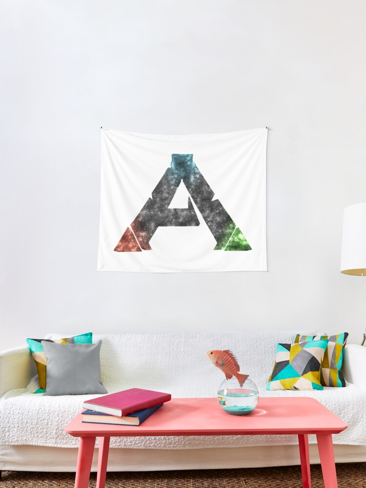 Ark Survival Evolved Logo Galaxy Design Tapestry By Kamurata Redbubble
