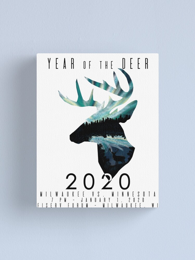 Alternate view of Year of the Deer Canvas Print