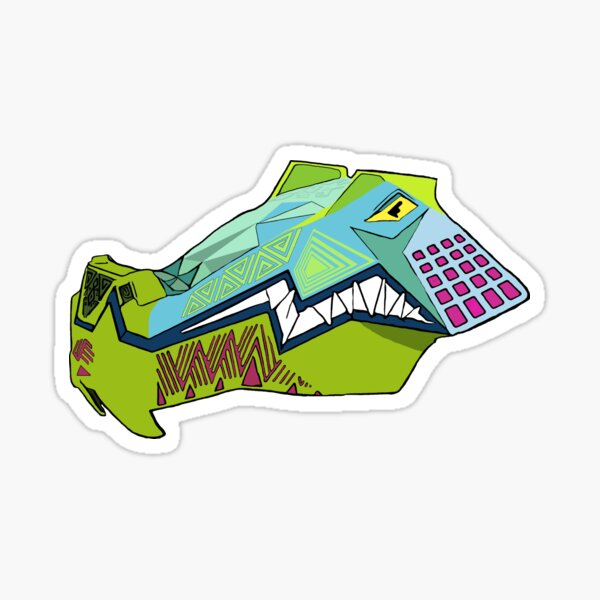 iron gwazi alligator  Sticker