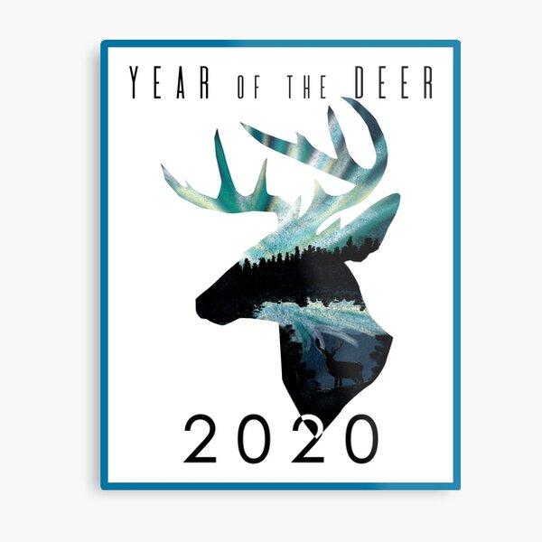 Year of the Deer Metal Print