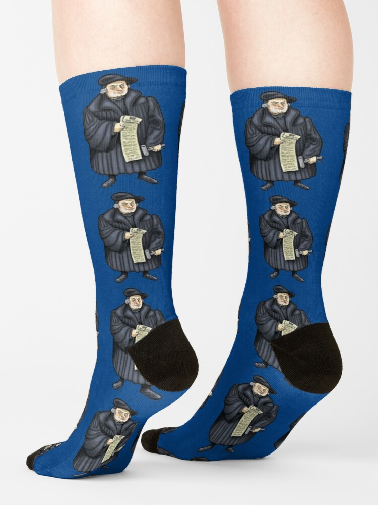 Alternate view of Martin Luther Socks