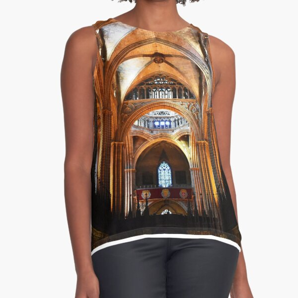 Cathedral of Saint Eulalia, Barcelona Sleeveless Top
