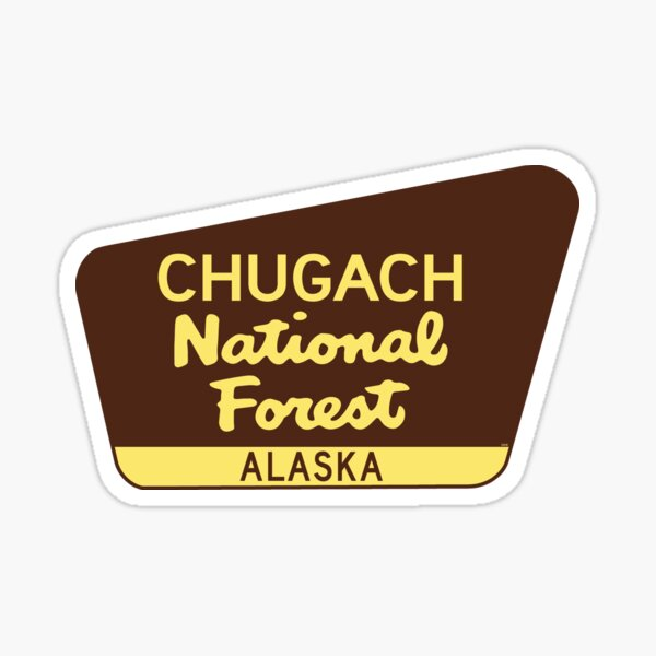 CHUGACH NATIONAL FOREST ALASKA HIKING CAMPING SKIING Sticker