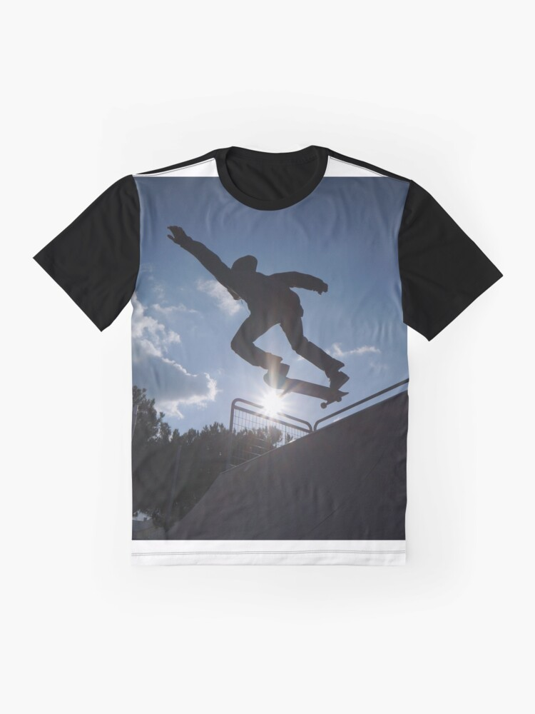 Alternate view of Hands UP for Skateboarding Graphic T-Shirt
