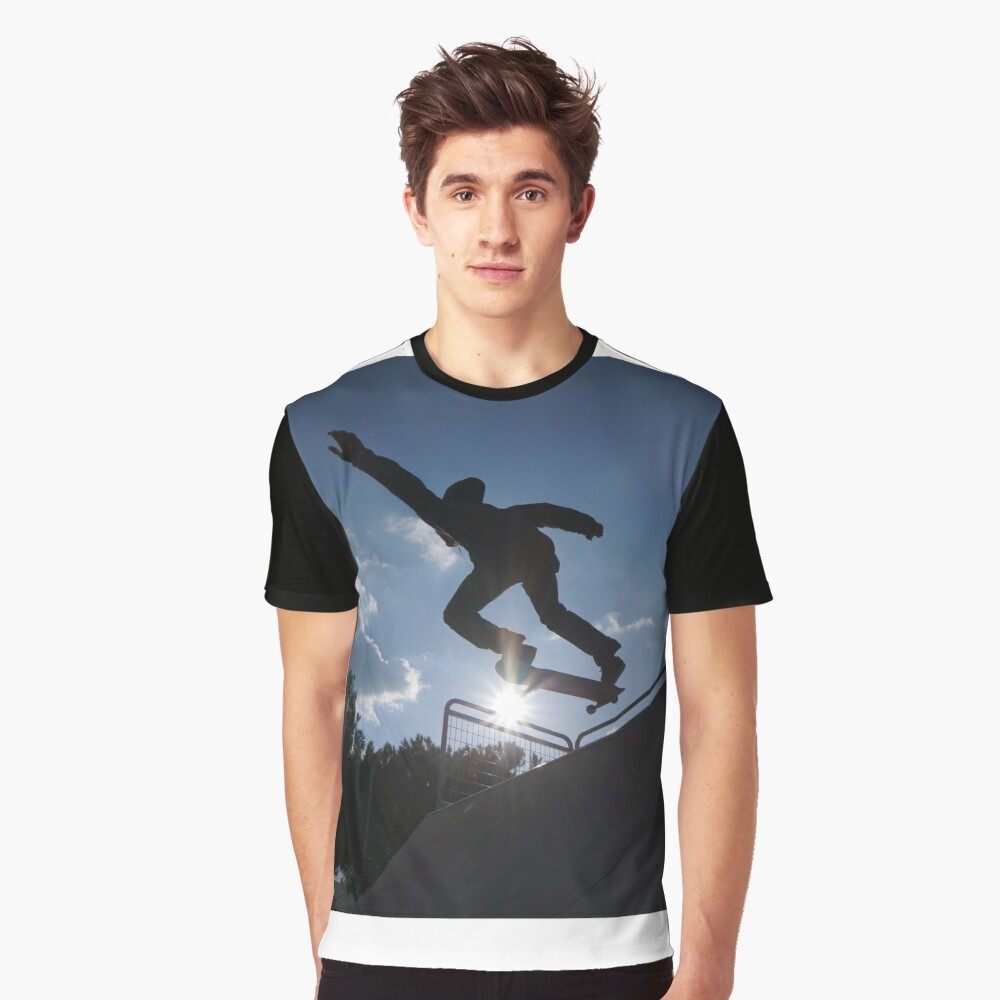 Hands UP for Skateboarding Graphic T-Shirt