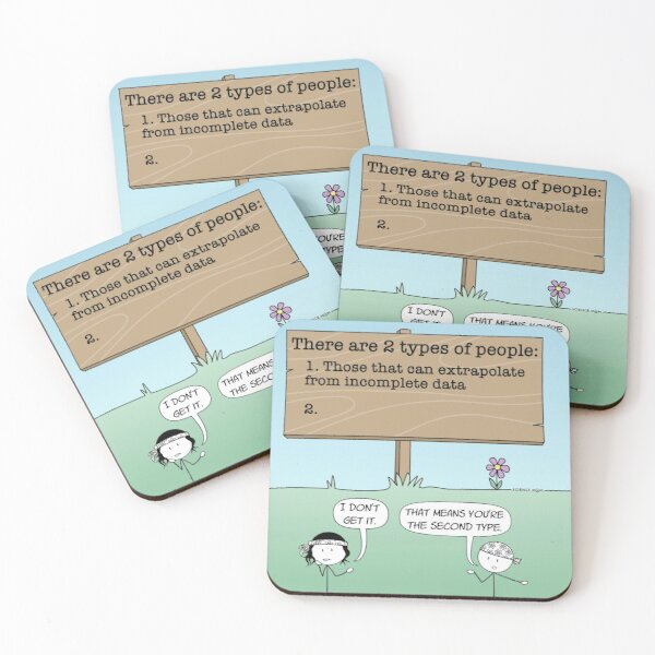 There Are 2 Types of People Coasters (Set of 4)