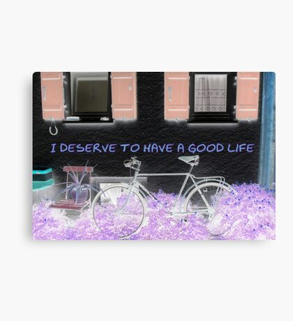 I deserve to have a good life featured in A place to start Canvas Print