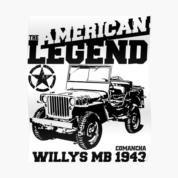 Willys Jeep Poster Print Military Jeep Army Gift Off Roading Mudding Repair Shop