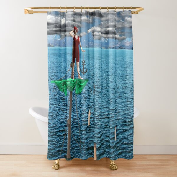 Wrecked Shower Curtain