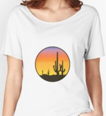 Cactus Silhouette Women's Relaxed Fit T-Shirt