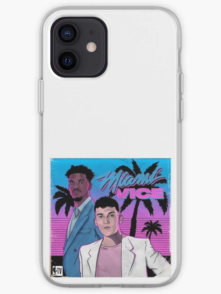 Miami Vice (logo rétro Heat NBA) | Coque iPhone