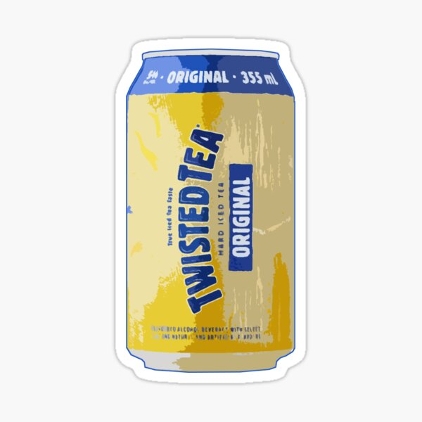 Twisted Tea Can Sticker