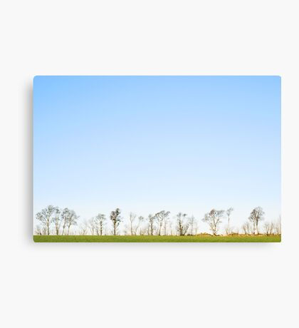 The minimalistic landscape of Jæren Canvas Print