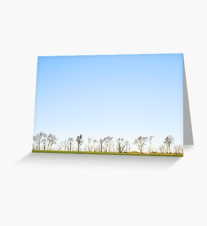 The minimalistic landscape of Jæren Greeting Card
