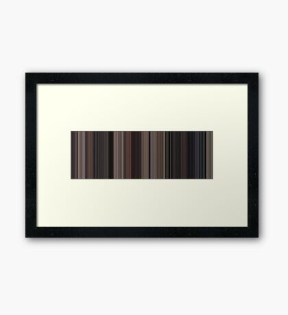 Moviebarcode: Back to the Future (1985) [Simplified Colors] Framed Print