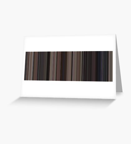 Moviebarcode: Back to the Future (1985) [Simplified Colors] Greeting Card