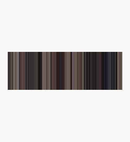 Moviebarcode: Back to the Future (1985) [Simplified Colors] Photographic Print