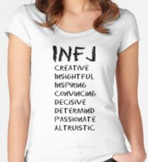 INFJ (Black letters) Women's Fitted Scoop T-Shirt