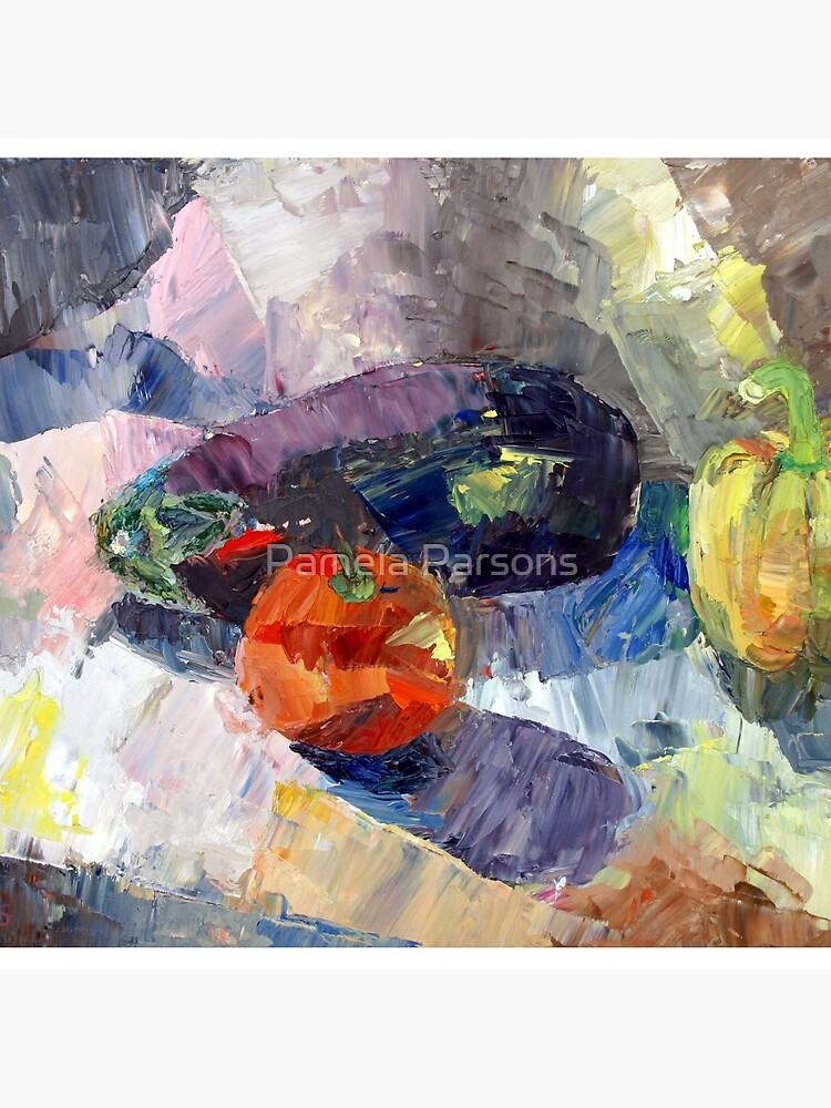Still Life with Squash. From palette knife oil painting by Pamela Parsons by parsonsp