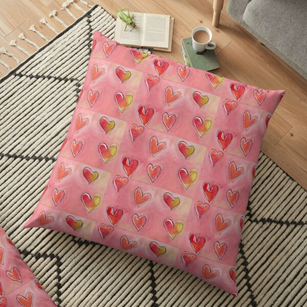 Floating Hearts Floor Pillow