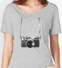 Vintage 35mm Rangefinder Camera Yashica Electro 35 GSN Women's Relaxed Fit T-Shirt