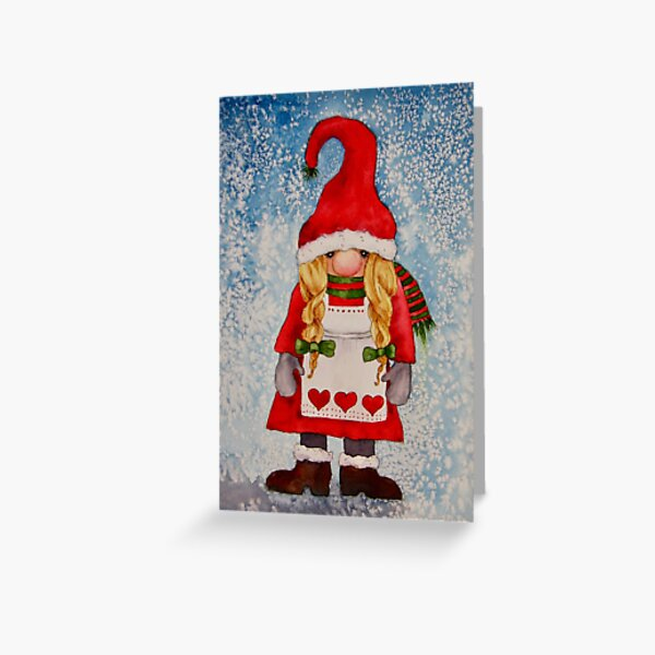 Girl Gnome Greeting Card