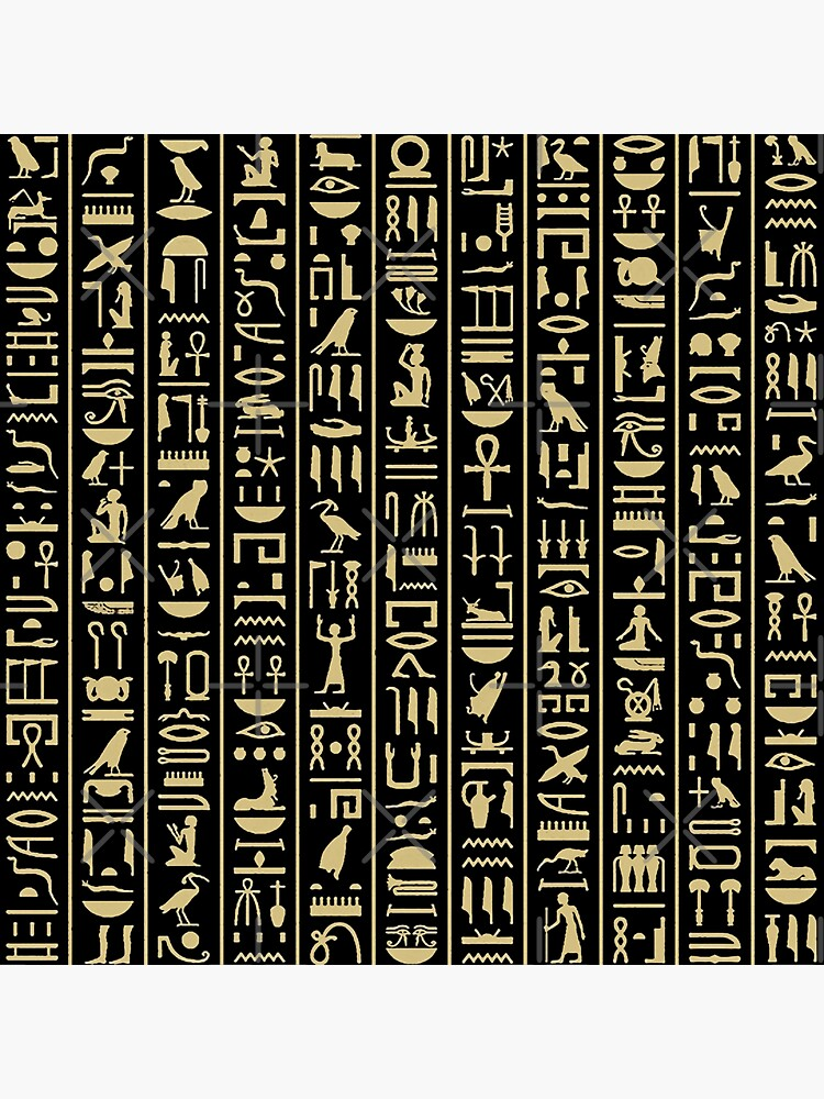 hieroglyphs alphabet by doniainart