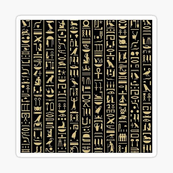 hieroglyphs alphabet Sticker