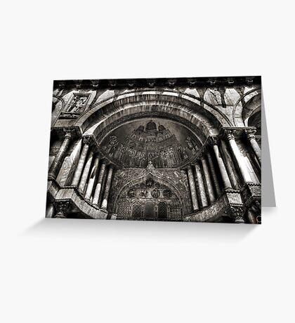 Threshold - St Mark's Basilica, Venice Greeting Card