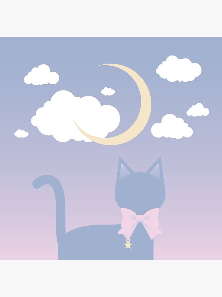 My Cat Sees the Moon and Stars by lucidly