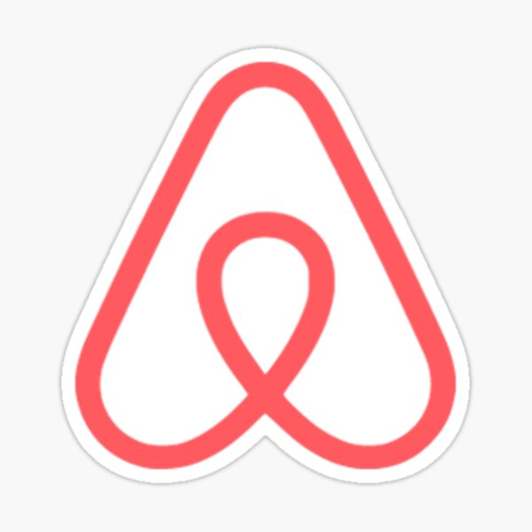 Airbnb logo and pattern Sticker