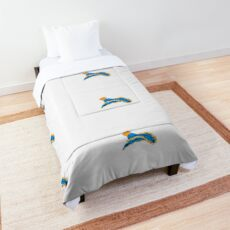 Blue and Yellow Nudibranch Comforter