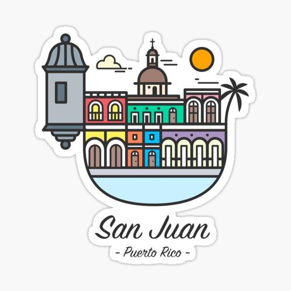 San Juan, Puerto Rico - Color Pegatina