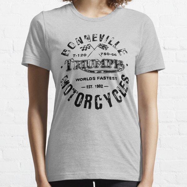 Triumph motocicleta Bonneville (negro) camiseta Camiseta esencial
