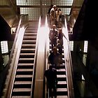 Stairs to the Underground _ with a touch of colour by bubblehex08