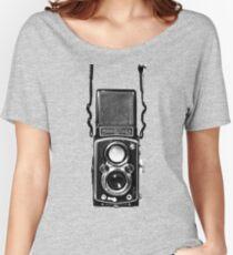Vintage Medium Format Camera Rolleiflex Twin Lens Reflex (TLR) Women's Relaxed Fit T-Shirt