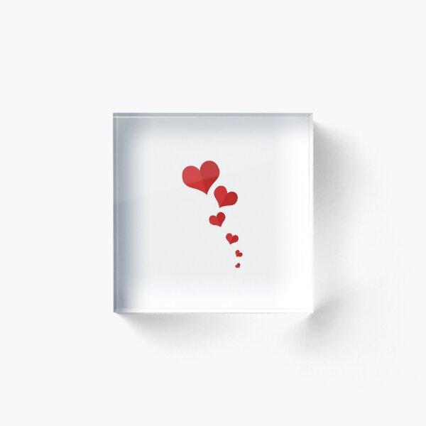 Hearts Acrylic Block
