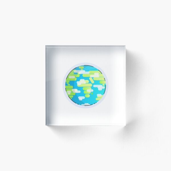 Globe Acrylic Block