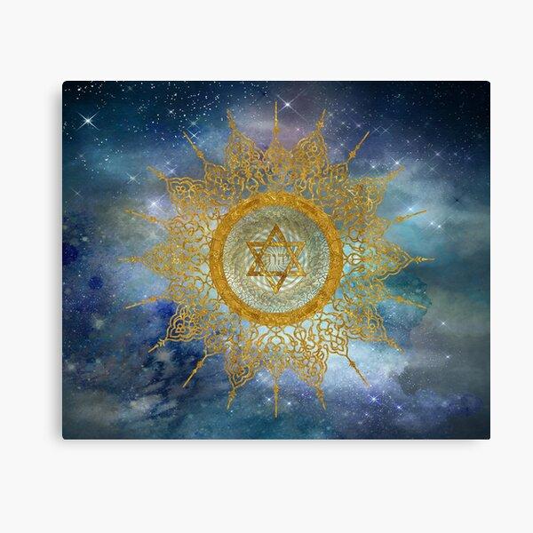 YHVH Gold Mandala Canvas Print
