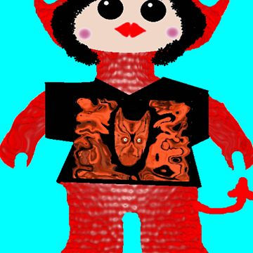 Little Devil In Disguise Rag Doll Wearing Mommy's Art 5 by DLazarus
