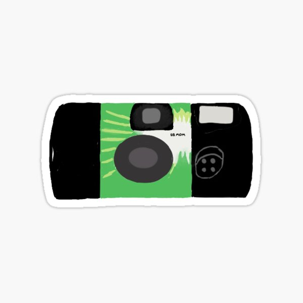 disposable camera Sticker