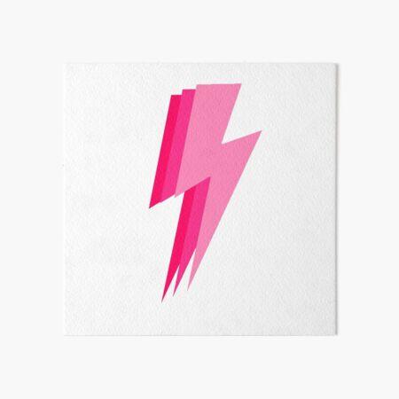 3 pink lightning bolt Art Board Print