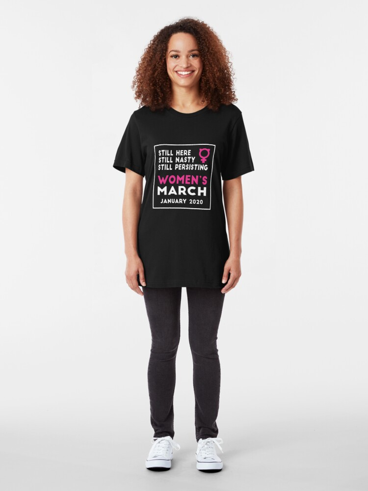 Alternate view of Women's March 2020 Washington DC New York Los Angeles San Francisco Slim Fit T-Shirt