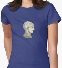 Vintage Brain Phrenology Head  Women's Fitted T-Shirt