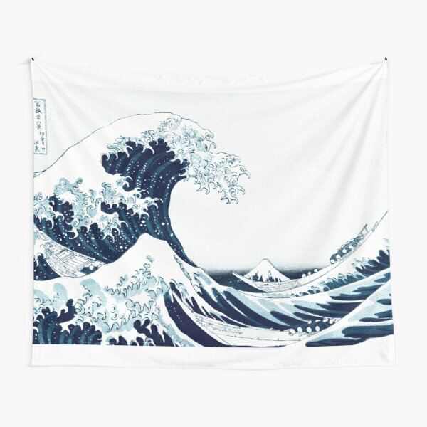The Great Wave - Hokusai - Halftone Tapestry