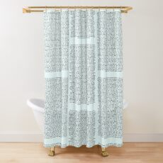 This is for Rachel you big fat-  Shower Curtain