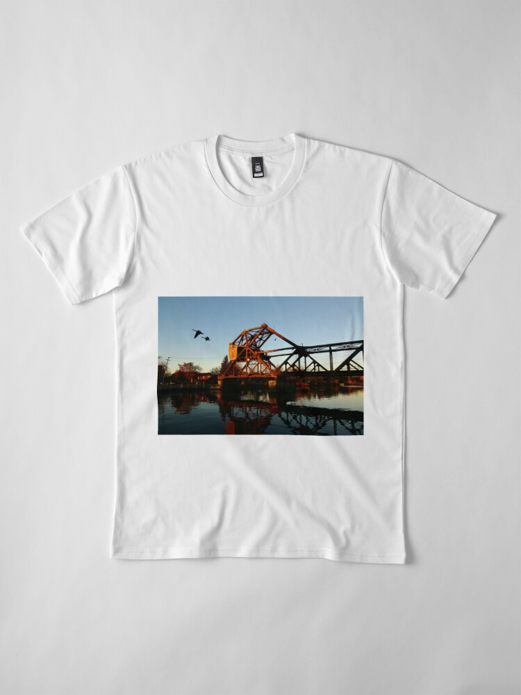 Alternate view of Flight of the Canada Geese Premium T-Shirt