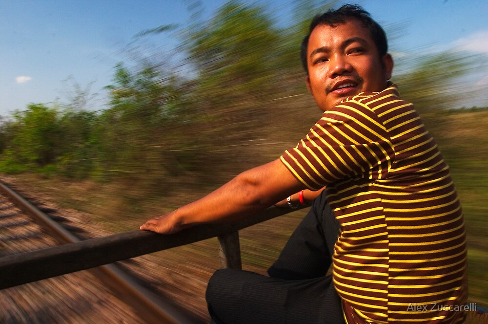 Bamboo Train - Battambang, Cambodia by Alex Zuccarelli